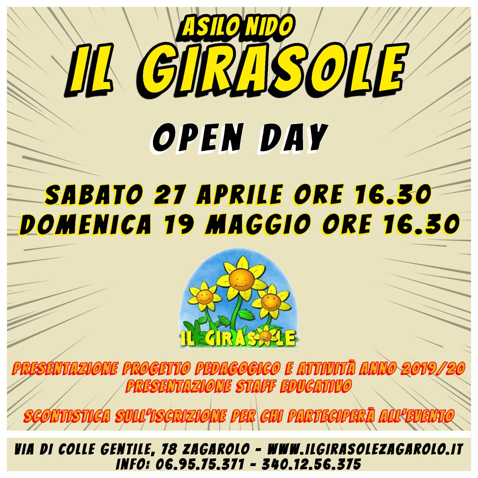 Open Day il 27 Aprile